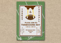 thanksgiving invitation, handmade digital invite, thanksgiving dinner invite, thanksgiving party invite - Digital File - DIY PRINTABLE