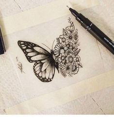 Our Website is the greatest collection of tattoos designs and artists. Search for more Butterfly Tattoo designs. Side Tattoos, Body Art Tattoos, Tribal Tattoos, New Tattoos, Small Tattoos, Side Leg Tattoo, Celtic Tattoos, Tattoo Arm, Chest Tattoo