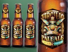 Virgilio American Pale Ale by Carlos Lerma, via Behance
