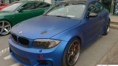 Matte Blue BMW 1M Coupe