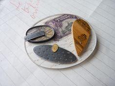 Trinidad collage brooch | @Matt Nickles Valk Chuah Scottish Gallery, Edinburgh | by Clare Hillerby