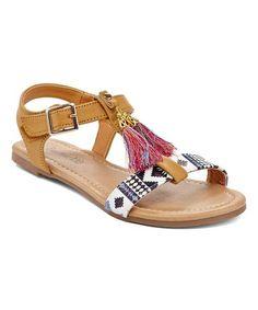 Look what I found on #zulily! Tan Tassel Sandal #zulilyfinds