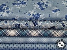 This denim inspired group featuring beautiful florals, great plaids, denim textures and pin dots is a great addition to any home. The Gina collection makes beautiful clothes and accessories too! Beautiful Clothes, Beautiful Outfits, Windham Fabrics, Floral Denim, Florals, Quilting, Dots, Plaid, Texture