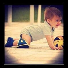 Cute baby volleyball player :)