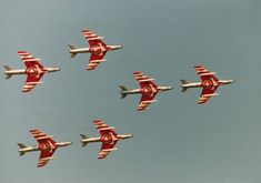 Hawker Hunters of the Patrouille Suisse