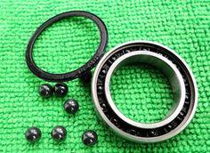 6004 2RS Size 20x42x12 Stainless Steel + Ceramic Ball Hybrid Bike Bearing #Affiliate