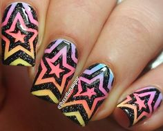 Fabulous mani by @thecottonsugar using our: Star Swirl Nail Vinyls snailvinyls.com