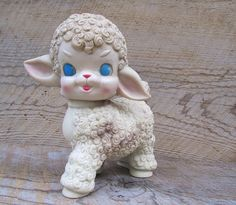 Vintage Rubber Lamb Squeaky Toy