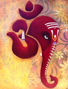 Love this Ganesha Om Art! Ganesha Drawing, Lord Ganesha Paintings, Arte Ganesha, Ganesha Rangoli, Om Ganesh, Elefante Hindu, Rangoli Designs Diwali, Om Shanti Om, Indian Art Paintings