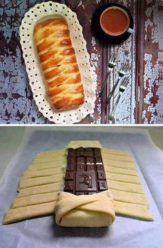 Feuilleté au chocolat... ...