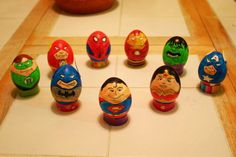 Superheroes of Justice league and the avengers easter eggs
