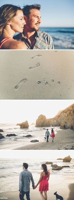 El Matador Beach Engagement Session Photos | Los Angeles Wedding Photography