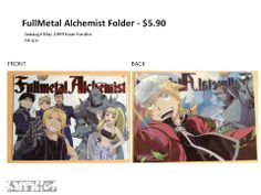 FullMetal Alchemist Folder furoku (supplement) from Animage May 2009 Issue.  A4 size