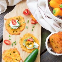 Taco Cheese Crisps are the perfect appetizer or snack dippers for any gluten-free or low carb munchers and are huge hits at tailgating parties!