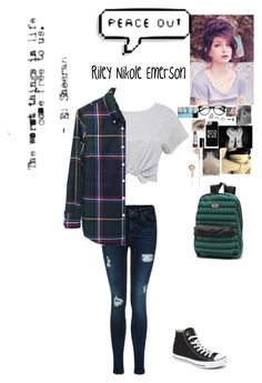 """""""Senior Year"""" by rainbow22xd ❤ liked on Polyvore featuring Band of Outsiders, Converse, Bling Jewelry, Vans, H&M, Frends and Topshop"""