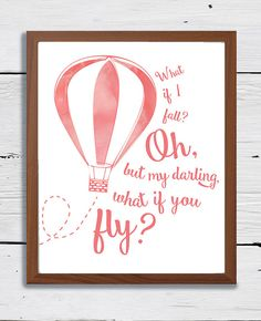 8x10 What if I fall Oh but my darling what if you by ExpressPress