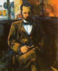 Paul Cezanne - Portrait of Ambroise Vollard, 1899 at Petit Palais (Paris Fine Art Museum) Paris France