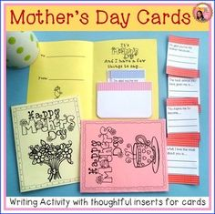 Mother's Day Cards in black and white to color and fill out for mom, for grandma, or for aunt. $