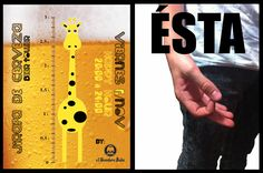"""Hoy Viernes,  > 20:00 a 24:00 Happy Hour de """"Jirafas de cerveza"""" > Desde las 23:00 ÉSTA (Dj Set) aka Marco Temes & Ale Fariña"""