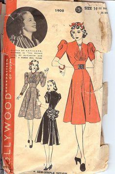 Hollywood Pattern 1908  1930's Olivia De Haviland  by FashionsLook