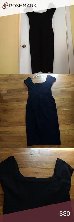 Classic black dress, designer of course! Classic black dress, for the office or party. Diane Von Furstenberg Dresses Midi