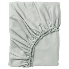 IKEA NATTJASMIN Fitted sheet Light grey Double Sateen-woven bedlinen in cotton/lyocell is very soft and pleasant to sleep in, and has a pronounced lustre that makes it look beautiful on your bed. Ikea Mydal, Bed Slats, Grey Stain, Bed Base, Hemnes, Foam Mattress, Linen Bedding, Bunk Beds, Shopping