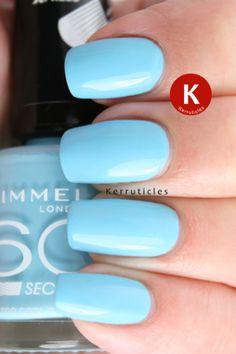 Rimmel Too Cool To Tango Rimmel Nail Polish, Uk Nails, Nail Blog, Tango, Nail Art, Beauty, Image, Blue, Different Color Nails