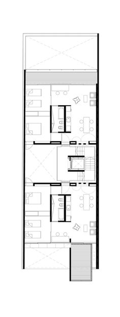 Acha Housing Units,Second floor plan Apartment Projects, Apartment Layout, Apartment Plans, Architecture Plan, Residential Architecture, Drawing House Plans, Townhouse Apartments, Craftsman Floor Plans, Modular Housing