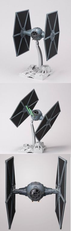 Bandai Star Wars Tie Fighter 1/72 Official Images.   This is going on my desk!   See more: http://www.gunjap.net/site/?p=233256 http://amzn.to/2rVSCYA