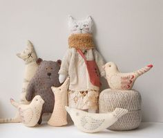 Kate Gurskaja of Ukraine - stitched creatures from a Woodland Tale. Precious!