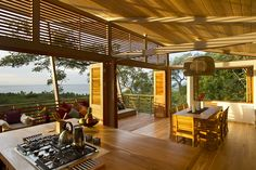 View kitchen house Costa Rica Exotic Wooden House Exhaling Life and Energy in Costa Rica