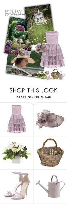 """""""Lavendar Garden"""" by priscilla12 ❤ liked on Polyvore featuring Laona, Failsworth Hats, Garden Trading, garden, Spring and purple"""