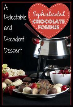 How to Make Chocolate Fondue-With Recipes