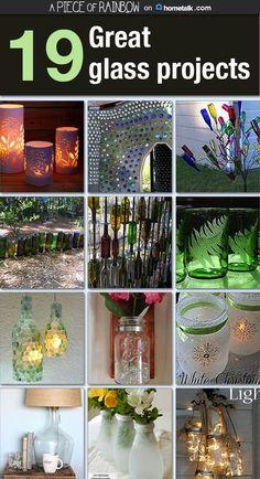 18 creative ideas to reuse glass   apieceofrainbow.com