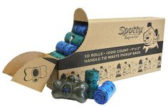 Spotty 1000 Count Disposal Handle Tie Bags, Teal, Blue and Gray *** Check out this great image  : Cat litter