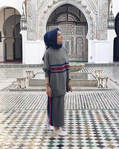 Islamic Fashion, Muslim Fashion, Modest Fashion, Fashion Outfits, Street Hijab Fashion, Abaya Fashion, Muslim Hijab, Muslim Dress, Sports Hijab