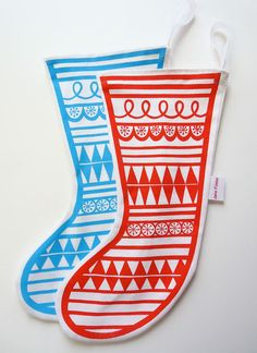 hand printed stockings