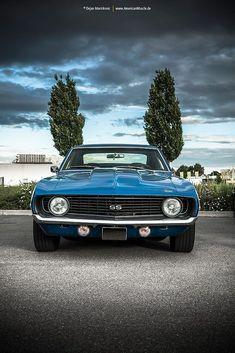 1969 Chevrolet Camaro SS Facebook: @metalroadstudio Very cool! #classiccarschevroletcamaro