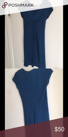 Issa for Banana Republic blue dress Fabulous Issa for Banana Republic dress. Gorgeous shade of blue. Great details. Special collection. Pre loved. Slight discoloration in armpits (not seen when worn). Banana Republic Dresses