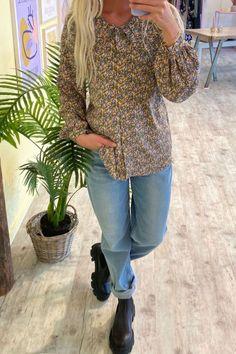 Nümph - Skjorte - Chabelly Shirt - Grape Leaf Blouse, Long Sleeve, Sleeves, Shirts, Fashion, Pink, Moda, Long Dress Patterns, Fashion Styles
