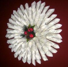 Paper Cone Wreath Tutorial