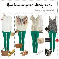 Different ways to style green pants
