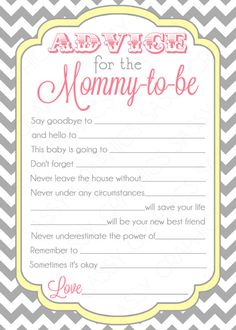 Blue Advice Card Chevron Yellow Gray Boy Baby Shower Advice Game Card Party Printable Baby Boy Activity PDF Advice Card Mommy To Be ( Baby Shower Advice, Baby Shower Fun, Baby Shower Cards, Shower Party, Baby Shower Parties, Baby Shower Themes, Baby Boy Shower, Baby Shower Decorations, Shower Ideas