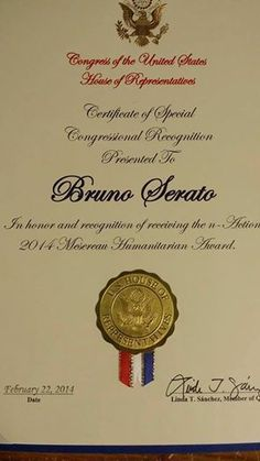 Another award...Thank you United state Congress. ... 2014 mesereau humanitarian award...Michael Jackson lawyer. . — at Anaheim White House.