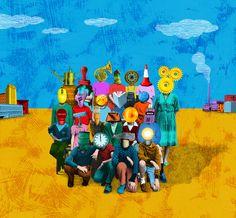 Boris Séméniako - Illustration pour Alternatives économiques - Couverture d'un hors-série consacré à la sociologie