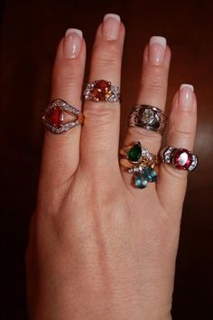 some of my diamond Candle rings