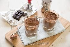 Luchtige chocolademousse - Keuken♥Liefde Choc Mousse, Cake Cookies, Creme, Panna Cotta, Nom Nom, Deserts, Dessert Recipes, Pudding, Favorite Recipes