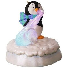 Merry Music Makers Penguin Swingin' Sax Ornament With Light and Music