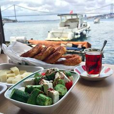 Turkish Tea with Turkish Breakfast. Photo by Oguz Yenihayat (Turkey. Home ) Turkish Tea with Turkish Breakfast. Photo by Oguz Yenihayat (Turkey. Turkish Breakfast, Turkish Tea, Turkish Delight, Fresco, Breakfast Photo, Expo 2015, Turkish Recipes, Green Beans, Easy Meals