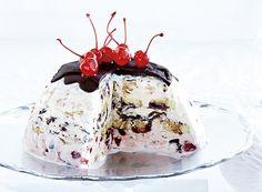 Bomba gelada de chocolate e cereja